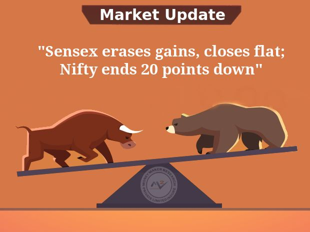 #Indian #shares traded #flat on Friday, after hitting record highs earlier in the session, as #Yes #Bank slumped on concerns over bad loans, while investors booked profits in recent gainers. The #NSE #Nifty and #BSE #Sensex were set to gain more than 1.9% each for the week after the cabinet's decision to inject $32.4 billion into state-run lenders over the next two years boosted sentiment. #MoneyMakerResearch