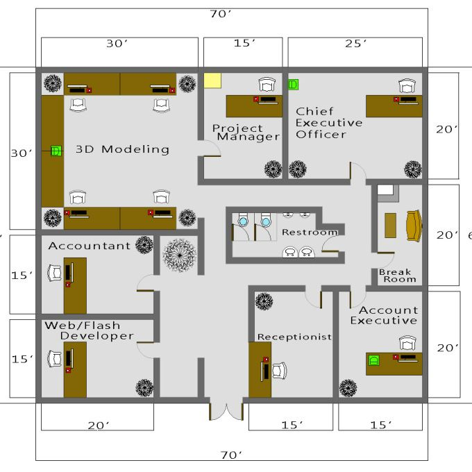 Business Floor Plan Creator Modern House