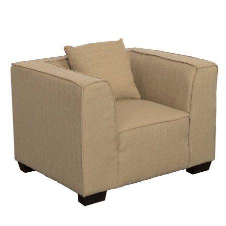 Lida Fabric Armchair, Beige