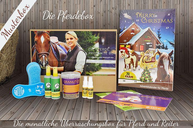 die Pferdebox - ein monatlicher Begleiter mit 4-5 Pferde und Reiter Produkten. Lass dich überraschen. #pferde #pferdeliebhaber 