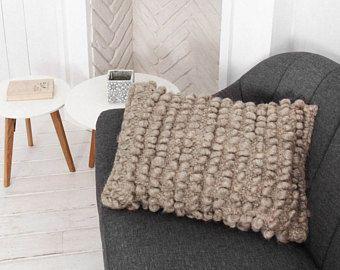 Cuscino di lana bianca naturale divano cuscini decorativi