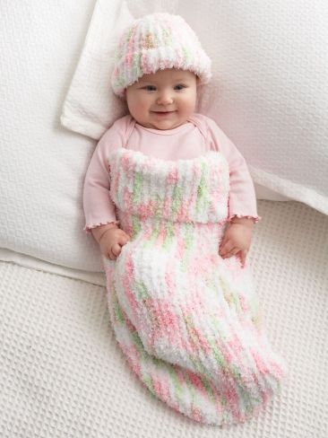 Knit Baby Cocoon | Yarn | Free Knitting Patterns | Crochet Patterns | Yarnspirations