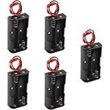 Haljia 5PCS plastica batteria Storage Case box Holder for 2x AA 2x AA 3V con cavi
