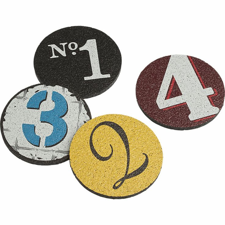 set of 4 recycled tire coasters cb2