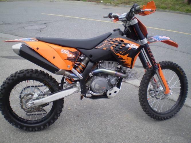 ktm 505 sx f My new sweet bike!!