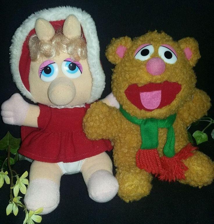 $8.96 or best offer Muppet baby Miss Piggy Fozzy Vintage plush jim henson stuffed animals #muppets