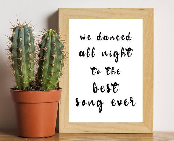 Best Song Ever - One Direction, One Direction Print, 1D Merch, Harry Styles, Liam Payne, Louis Tomlinson, Niall Horan, Zayn Malik, 1D Print