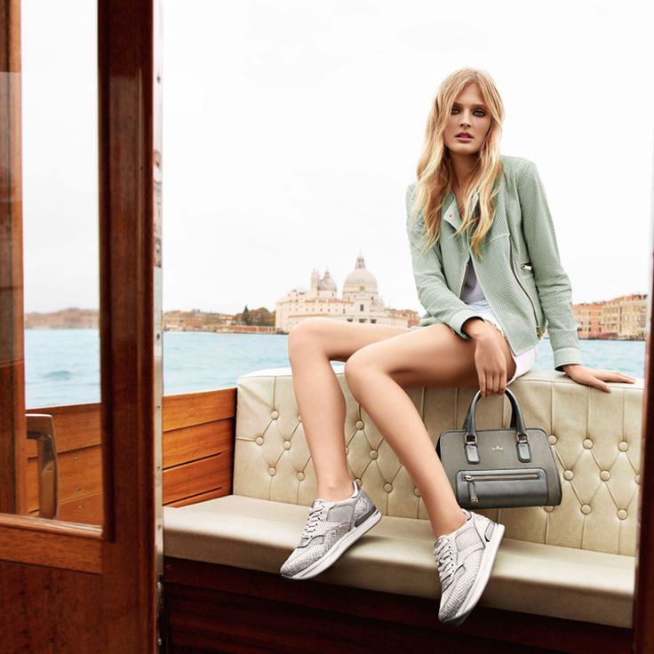 #HOGAN presents Constance Jablonski in the H222 #Sneaker and #bag for the new #Womens spring/summer collection 2014.