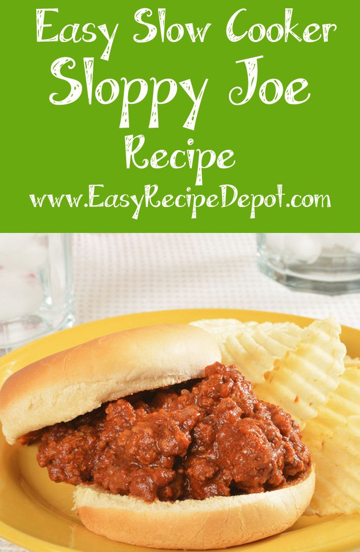 Easy recipe for Slow Cooker Sloppy Joes! This recipe uses just a few easy ingredients and prep to make awesome sloppy joes. No big chunks of vegetables so kids will LOVE IT!