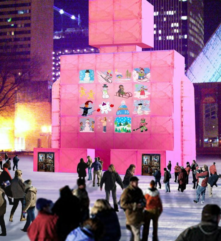 From New Year's Eve till Feb. 20, Churchill Square is its own city withsix (heated) pavilions built with scaffolding and shrink-wrap, designed by Canadian architects including Gene Dub, Giuseppe Albi and and Taymoore Balbaa of Toronto's Atelier3AM. At the inaugural Metropolis, you can drink up in the Polar Brewhouse, while kids rejoice in the robot-shaped pavilion with arts and crafts and a giant inflatable slide. And the Community Centre pavilion, designed by Dub.