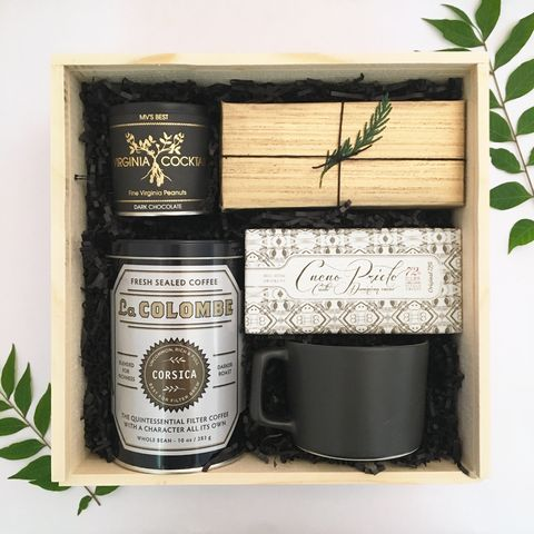 Coffee and Sweets gift box from Loved and Found. Client or Corporate Gift.