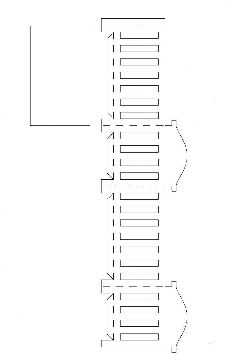 Molde berço de papel para imprimir