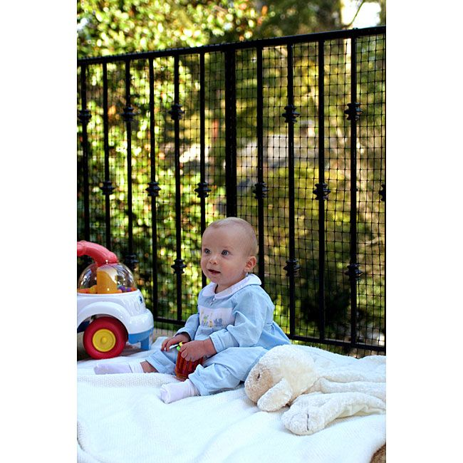 Make your deck or balcony railing safe for children and pets without obstructing the view with this easy-to-install outdoor safety netting. Each roll provides 15 feet of 36-inch-tall coverage and includes all hardware needed for installation.