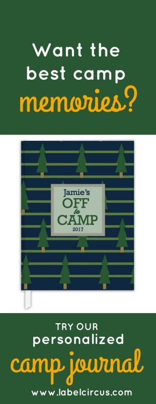 Want to read the best camp memories? Check out the cutest personalized hard cover journal!