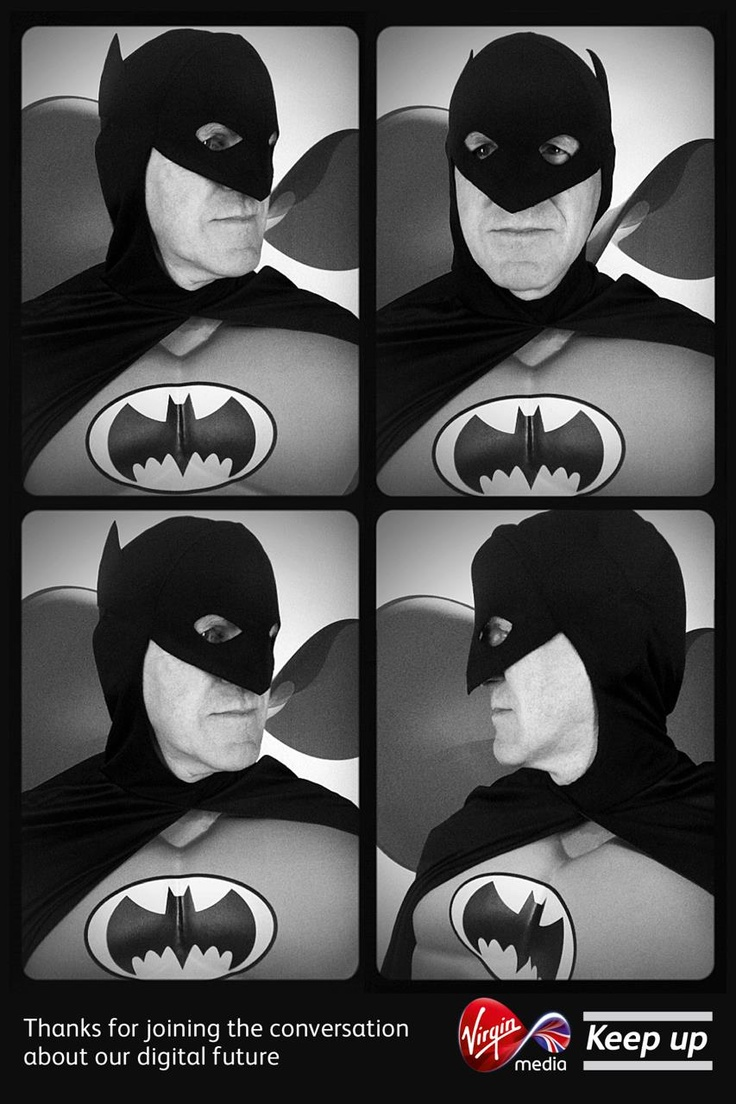 While I'm not often a fan of these costumes, black and white Batman looks great in Photobot!