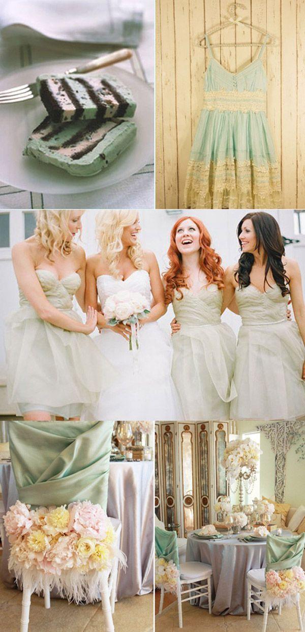 INSPIRACIÓN MINT  ¡este verano las bodas más in se visten de mint! en http://www.unabodaoriginal.es