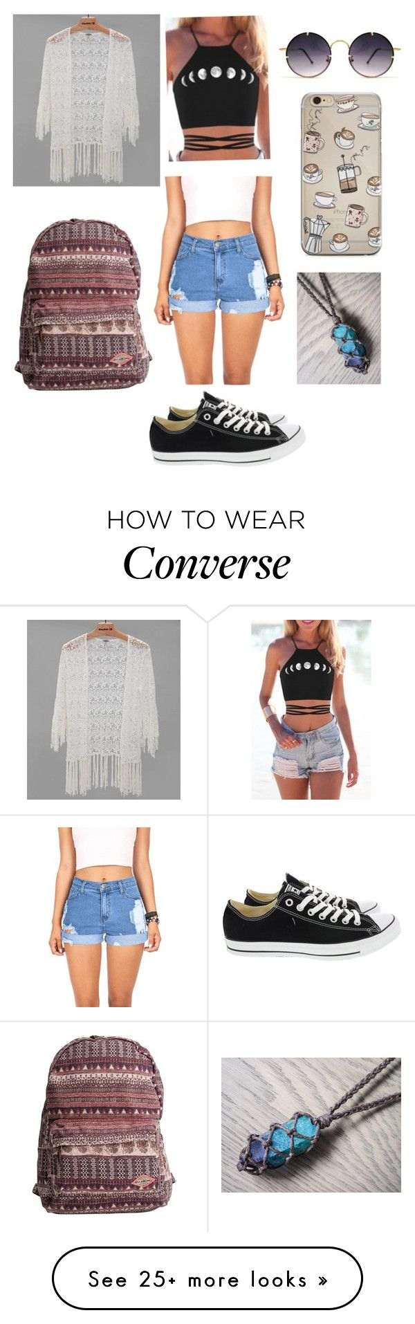 """""""Untitled #971"""" by the-cute-psycho21 on Polyvore featuring Vibrant, Converse, Gimmicks, Billabong and Spitfire"""