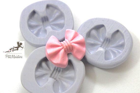 Stampo flessibile silicone fiocco 23cm  Kawaii di PetitMiniatures