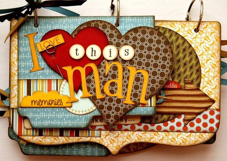 mini album for a dad, grandfather, husband or boyfriend #scrapbooking: Scrapbook Ideas For Boyfriends, Minis Books, Minis Album, Gifts Ideas, Men Minis, Minis Scrapbook, Scrapbook Minis, Books Ideas, Boyfriends Scrapbook