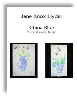 China Blue Twin Pack by  Jane Knox Hyder www.thumbnailmedia.com