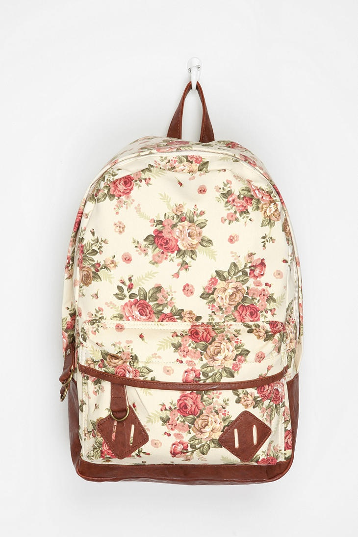 Carrot Exploding Floral Backpack: I think I just love book bags.