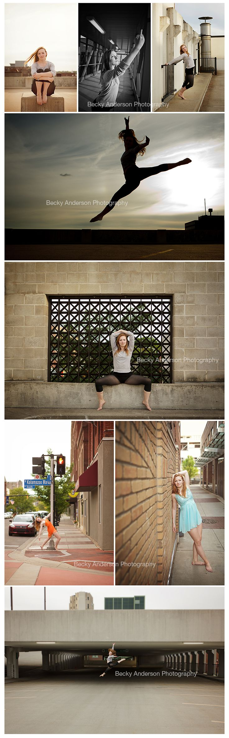Urban Dancer {Kalamazoo Senior Photographer} Senior Dance Portraits love the leaping pictures