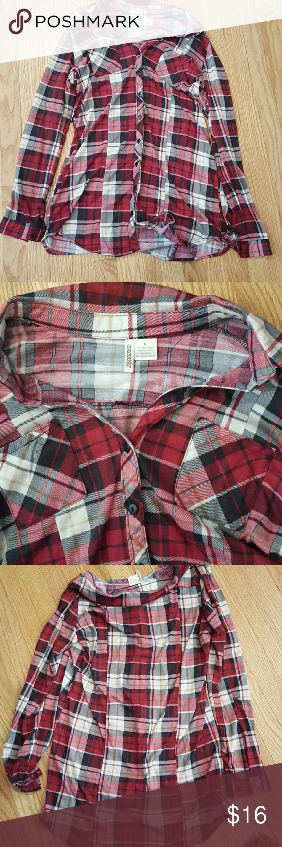 Flannel Tunic Nice flannel tunic.No flaws and great condition. Hardly worn Urban Outfitters Tops