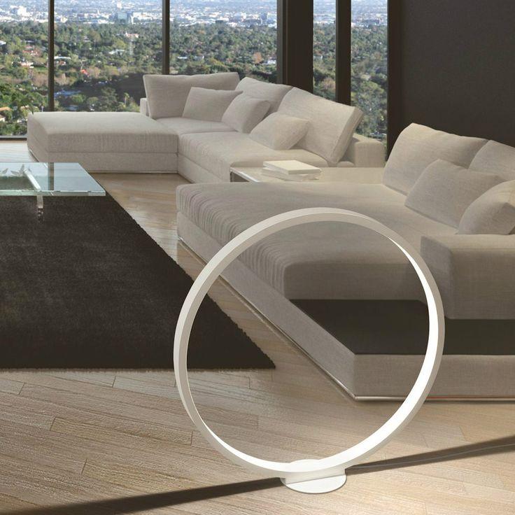 Una lampada d'appoggio a luce led dal design essenziale che funge anche come complemento d'arredo :)