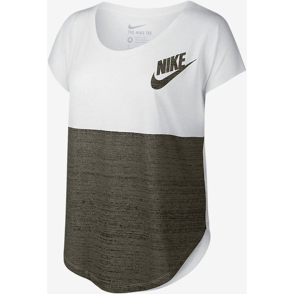 Nike Signal Color-Block Women's T-Shirt. Nike.com ($30) ❤ liked on Polyvore featuring tops, t-shirts, colorblock t shirt, nike tees, nike t shirts, nike tops and color block t shirt