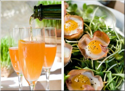A Brunch Wedding Reception Complete with Mimosas