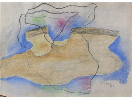 Paysage surréaliste - Josef Sima  1931