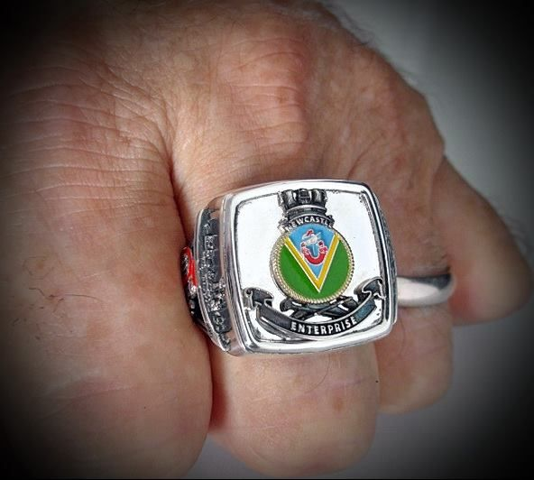 HMAS Newcastle Ships Crest Ring Crest Ring is made to order