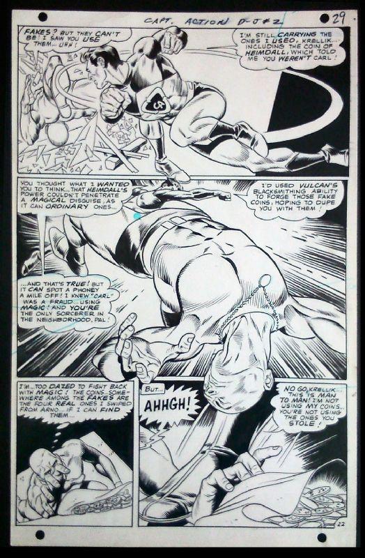 Captain Action Comic Art