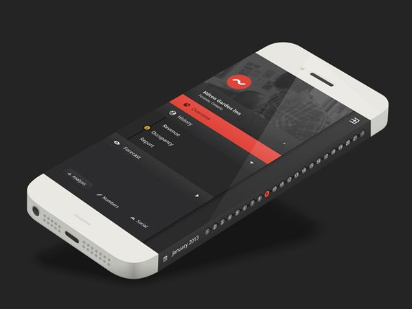 Hotel Management App by Ashish Thakkar. iPhone 6 Infinity Concept Design