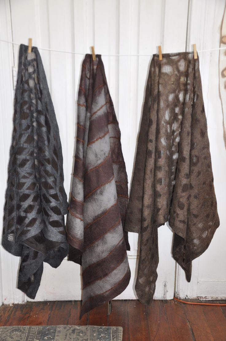 shawl felt, merino , alpaca