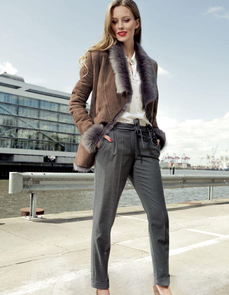 MADELEINE Trousers– Slim line with turn-up hems, #pleats and centre creases. #MADELEINEfashion #MADELEINE #Fashion #AW15 #Autumn #fashionable