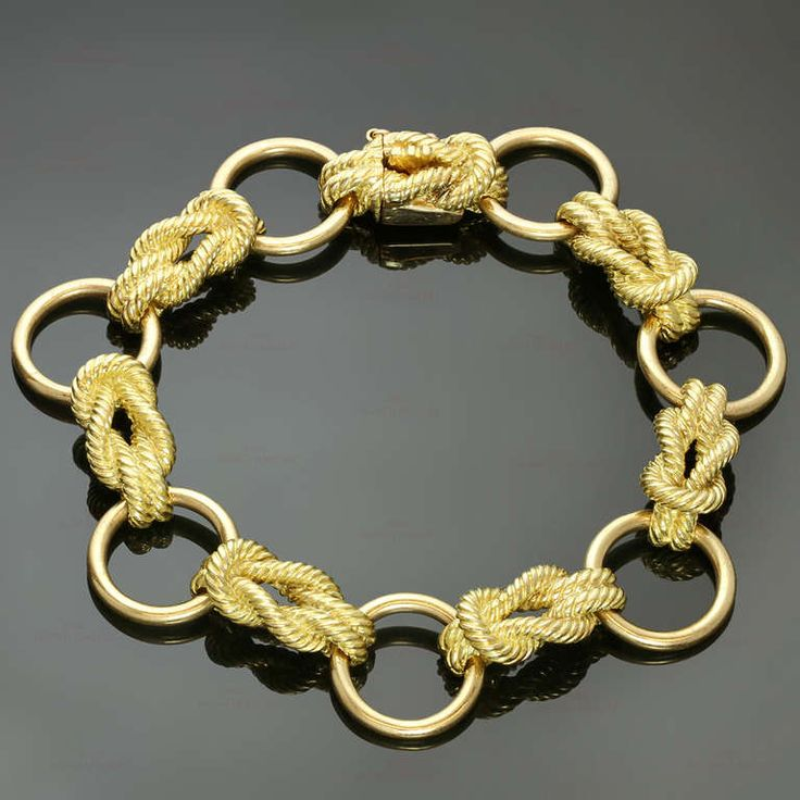 Rare 1970s HERMES Paris Yellow Gold Link Bracelet | From a unique collection of vintage link bracelets at http://www.1stdibs.com/jewelry/bracelets/link-bracelets/