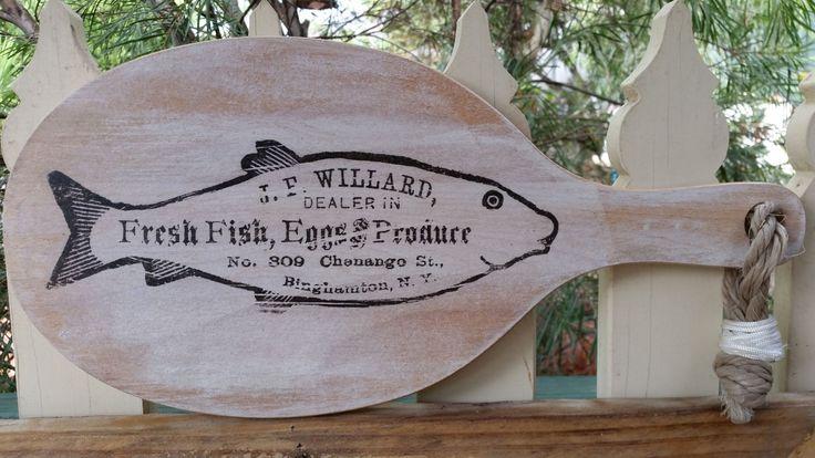 Kitchen chopping board // Fisherman chopping board // FISH // gift for the fisherman // kitchen decor // beach decor // housewaring gift by BornAgainBargainsCo on Etsy