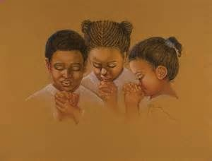 black teen girl praying