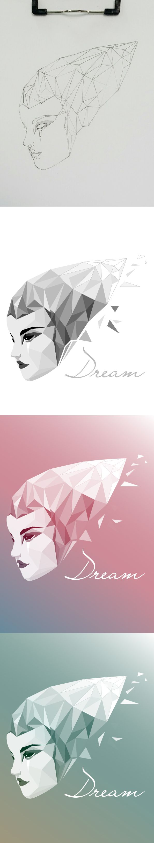#prism #illustration # face #dream