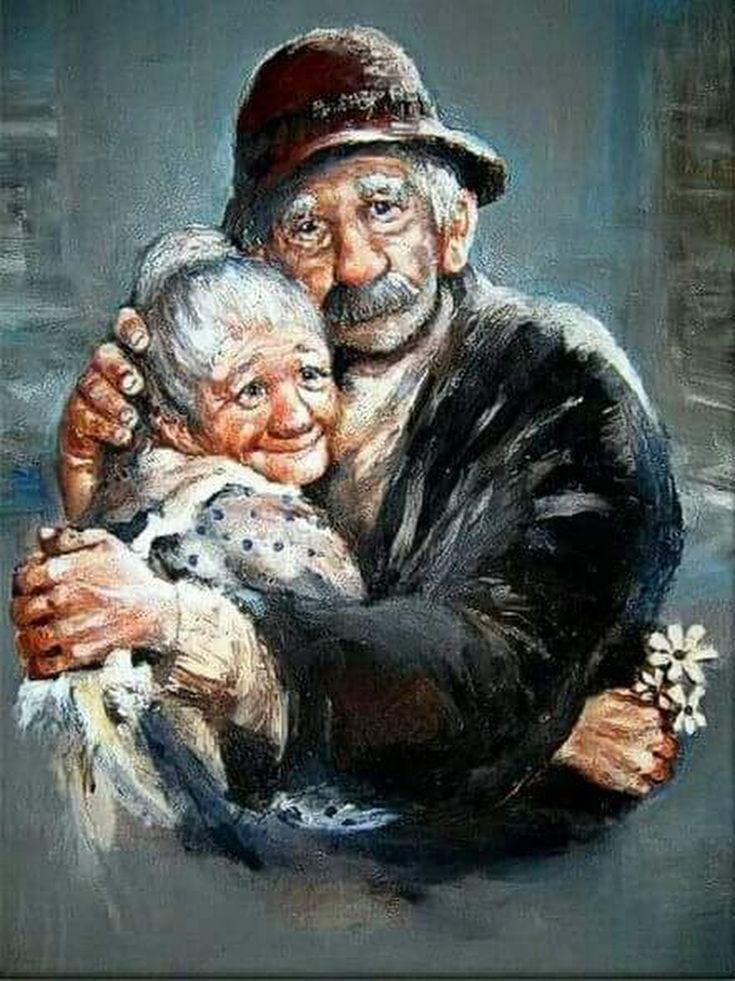 Открытки счастливые бабушка и дедушка