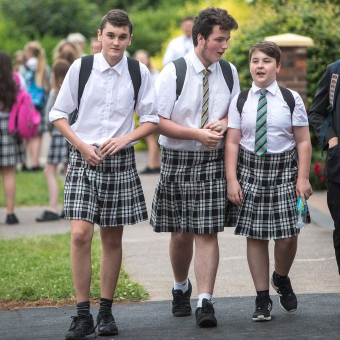 Image Result For Boys In Skirts Gymslip And School