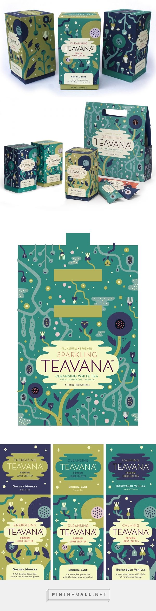 Wonderful calming colors and illustration style! Teavana Tea Rebrand by Alexander Vidal