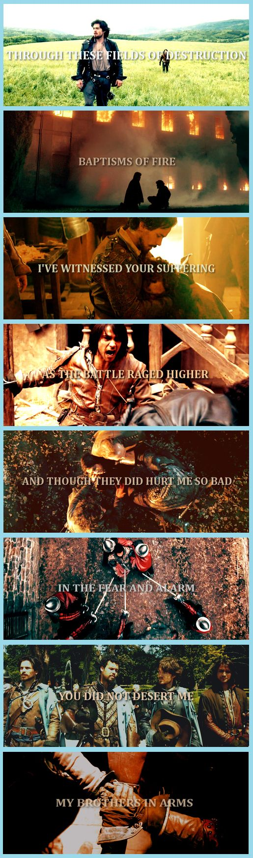 The Musketeers + Brothers in Arms