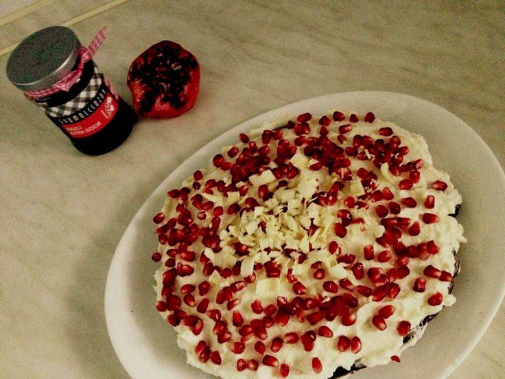 Finomság! Egészség! Boldogság!: Gránátalma-mascarpone torta