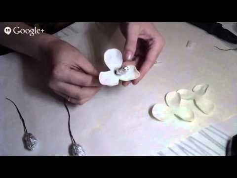 Изысканная орхидея из фоамирана. - YouTube
