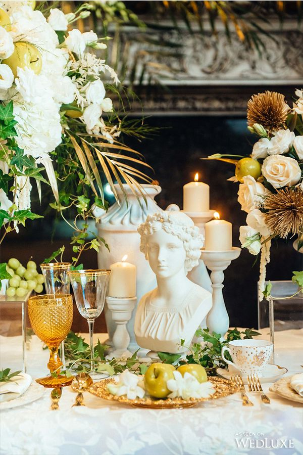 WedLuxe – An Ethereal Take on Ancient Greece – Wedding Ideas | Photography By: Eric K Choi Follow @WedLuxe for more wedding inspiration!