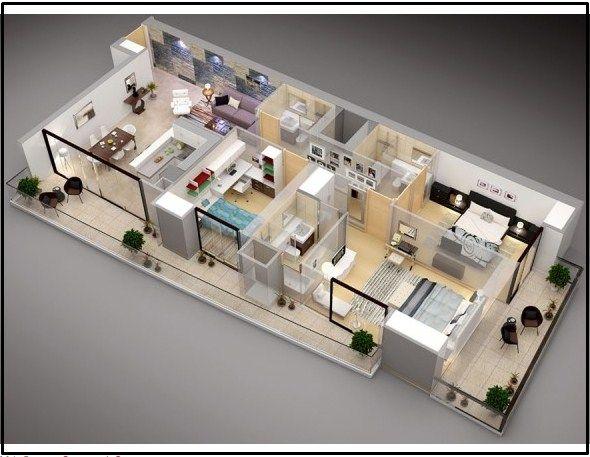 Gambar Denah Rumah Minimalis 3 Kamar Tidur 10