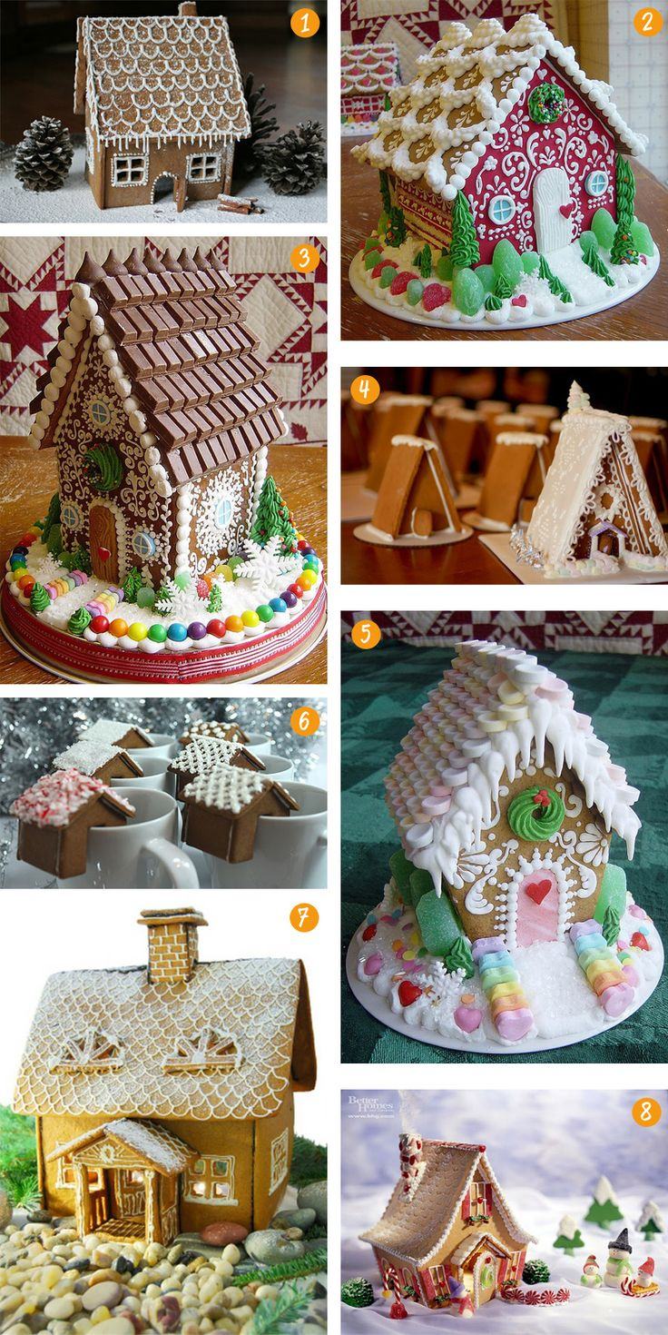 GINGERBREAD HOUSES... I love the smarty idea
