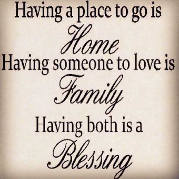 Home Family Blessing Quotes And Sayings Sayings